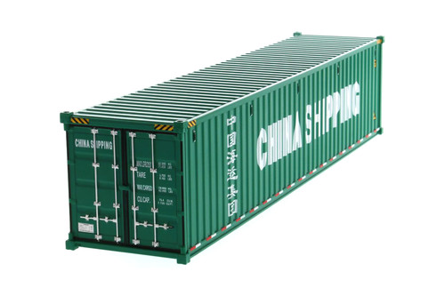 """40' Dry Goods Sea Shipping Container """"China Shipping"""", Green - Diecast Masters 91027C - 1/50 scale Plastic Replica"""
