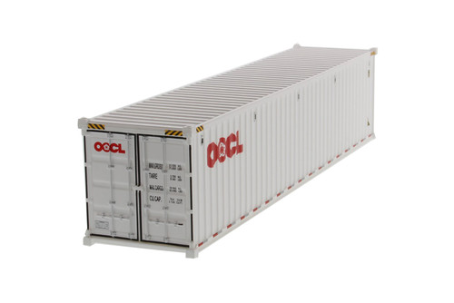 """40' Dry Goods Sea Shipping Container """"OOCL"""", White - Diecast Masters 91027B - 1/50 scale Plastic Replica"""