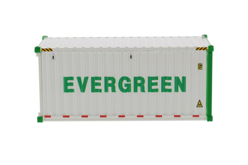"""20' Refrigerated Sea Shipping Container """"Evergreen"""", White - Diecast Masters 91026A - 1/50 scale Plastic Replica"""