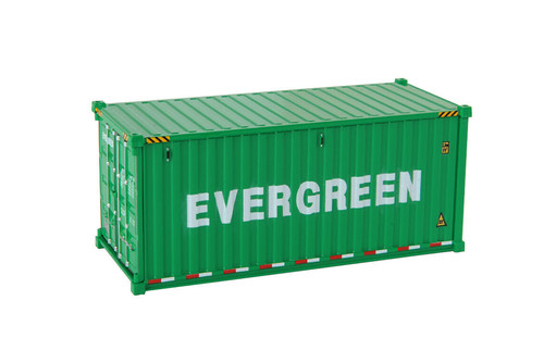 """20' Dry Goods Sea Shipping Container """"Evergreen, Green - Diecast Masters 91025D - 1/50 scale Plastic Replica"""
