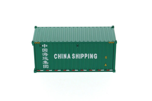 """20' Dry Goods Sea Shipping Container """"China Shipping"""", Green - Diecast Masters 91025C - 1/50 scale Plastic Replica"""