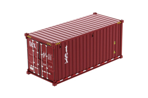 """20' Dry Goods Sea Shipping Container """"TEX"""", Burgundy - Diecast Masters 91025A - 1/50 scale Plastic Replica"""