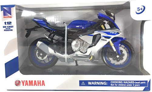 2016 Yamaha YZF-R1 Bike Motorcycle, Blue - New Ray 57803A - 1/12 scale Diecast Motorcycle