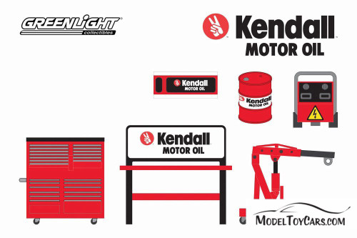 Shop Tool Accessories Series 3, Kendall Motor Oil - Greenlight 16060B/48 - 1/64 scale Diecast Accessory