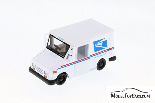 Long Live Postal Mail Delivery Vehicle (LLV), White - Kinsmart 5112WB - 1/34 scale Diecast Model Toy Car