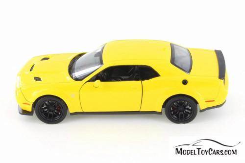 2018 Dodge Challenger SRT Hellcat Widebody Hardtop, Yellow - Showcasts 79350/16D - 1/24 scale Diecast Model Toy Car