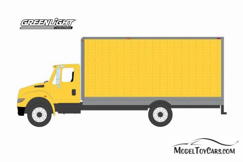 2013 International Durastar Box Van, Yellow - Greenlight 33180B/48 - 1/64 scale Diecast Model Toy Car