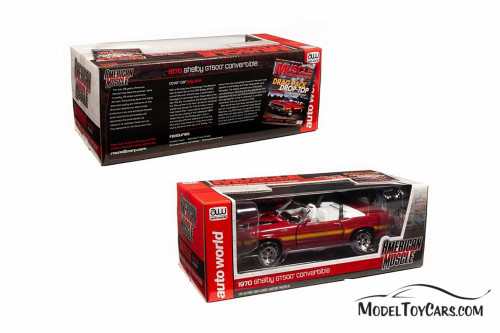 1970 Shelby GT500 Convertible, Red - Auto World AMM1187 - 1/18 scale Diecast Model Toy Car