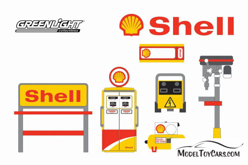 Shop Tool Accessories Series 3, Shell Oil - Greenlight 16060C/48 - 1/64 scale Diecast Accessory