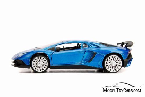 2017 Lamborghini Aventador Hard Top, Blue - Jada 30109WA1 - 1/32 scale Diecast Model Toy Car
