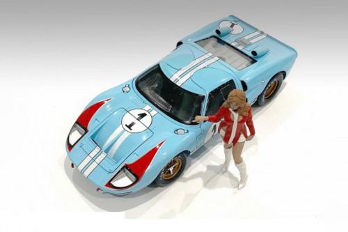 Race Day 2 Figure V, Red and White - American Diorama 76299 - 1/18 scale Figurine - Diorama Accessory