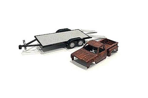 Haul N Go 2 Set, Silver - American Diorama 38378MJ - 1/64 scale Figurine - Diorama Accessory