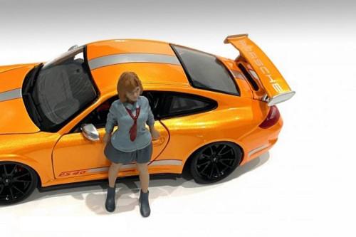 Car Meet 1 Figure V, Gray - American Diorama 76281 - 1/18 scale Figurine - Diorama Accessory