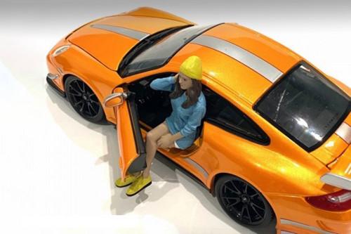 Car Meet 1 Figure III, Blue and White - American Diorama 76379 - 1/24 scale Figurine - Diorama Accessory