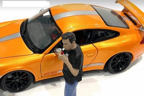 Car Meet 1 Figure VI, Black and Blue - American Diorama 76382 - 1/24 scale Figurine - Diorama Accessory