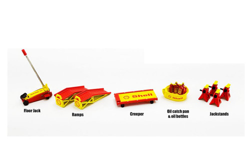 Shop Tool Set #2 - Shell Oil, Yellow and Red - GMP 18950 - 1/18 scale Diecast Accessory