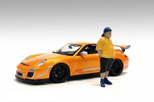 Car Meet 1 Figure II, Yellow and Black - American Diorama 76378 - 1/24 scale Figurine - Diorama Accessory