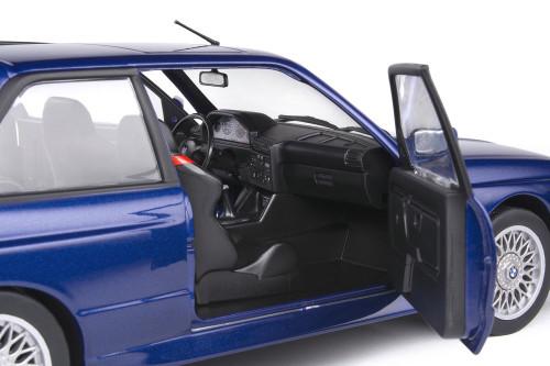 1990 BMW E30 M3, Mauritius Blue - Solido S1801509 - 1/18 scale Diecast Model Toy Car
