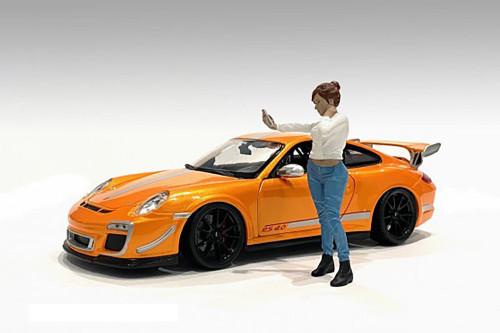 Car Meet 1 Figure I, White and Blue - American Diorama 76377 - 1/24 scale Figurine - Diorama Accessory