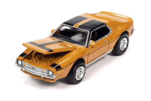 1971 AMC Javelin AMX Hardtop, Yellow - Johnny Lightning JLSP152/24B - 1/64 scale Diecast Model Toy Car