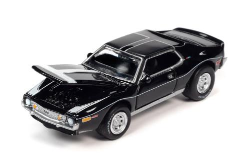1971 AMC Javelin AMX Hardtop, Black - Johnny Lightning JLSP152/24A - 1/64 scale Diecast Model Toy Car