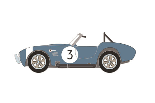 1964 Shelby Cobra #3 FIA Bondurant Tribute (Lot #1321.1, Viking Blue - Greenlight 37230B/48 - 1/64 scale Diecast Model Toy Car