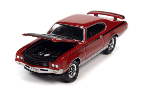 1971 Buick GSX Hardtop, Fire Red and Black - Johnny Lightning JLSP151/24A - 1/64 scale Diecast Model Toy Car