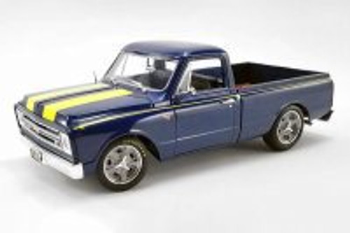 1967 Chevy C-10 Shop Pickup Truck, Blue - Acme A1807211B - 1/18 scale Diecast Model Toy Car