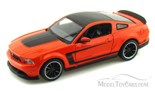 Ford Mustang Boss 302, Orange - Maisto 34269 - 1/24 Scale Diecast Model Toy Car (Brand New, but NOT IN BOX)