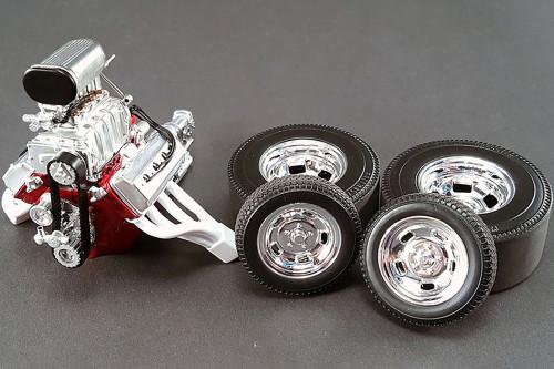 1933 Gasser Build Your Own Model Kit, Primer Gray - Acme A1800904K - 1/18 scale Diecast Model Toy Car Kit