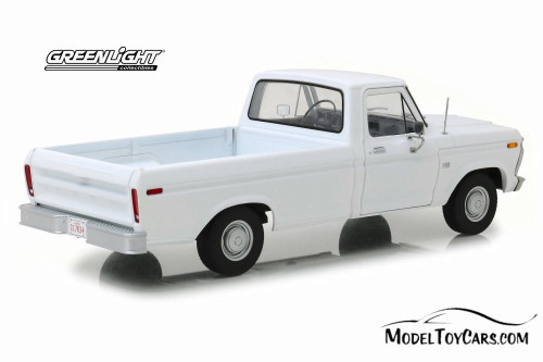 1973 Ford F-100 Pickup Truck, White - Greenlight 13536 - 1/18 scale Diecast Model Toy Car