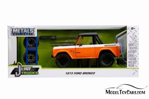 1973 Ford Bronco, Orange and Black - Jada 54027/W23 - 1/24 scale Diecast Model Toy Car