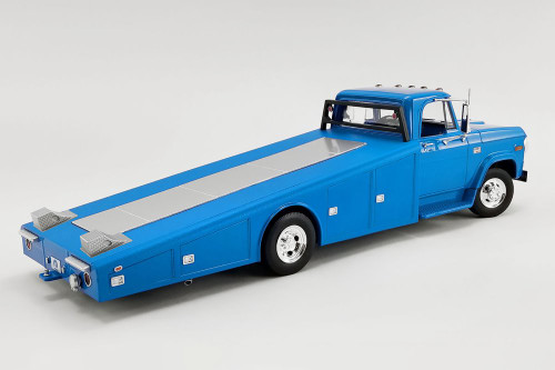 1970 Dodge D-300 Ramp Truck, Corporate Blue - Acme A1801905 - 1/18 scale Diecast Model Toy Car