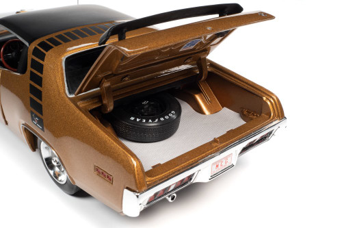 1971 Plymouth Road Runner, Gold Leaf Metallic - Auto World AMM1258 - 1/18 scale Diecast Model Toy Car