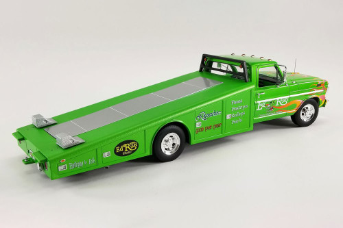 1970 Ford F-350 Ramp Truck -Rat Fink, Sewer Green - Acme A1801414 - 1/18 scale Diecast Model Toy Car