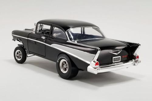 1957 Chevy Bel Air Gasser - Night Stalker, Black - Acme A1807010 - 1/18 scale Diecast Model Toy Car