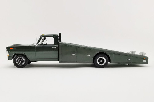 1970 Ford F-350 Ramp Truck, Highland Green - Acme A1801411 - 1/18 scale Diecast Model Toy Car