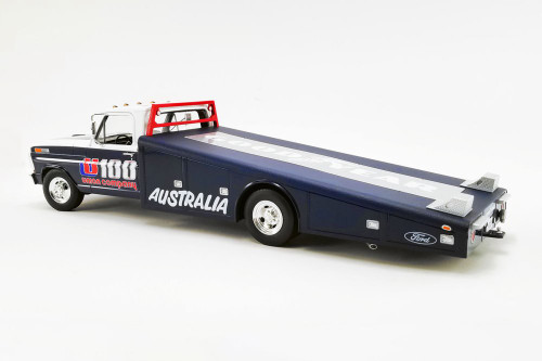 1970 Ford F-350 Ramp Truck - U100 Allan Moffat, Blue and White - Acme A1801406 - 1/18 scale Diecast Model Toy Car