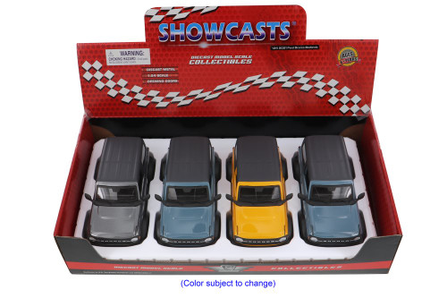 Showcasts 2021 Ford Bronco Badlands Diecast Car Set - Box of 4 1/24 scale Diecast Model Cars, Assorted Colors
