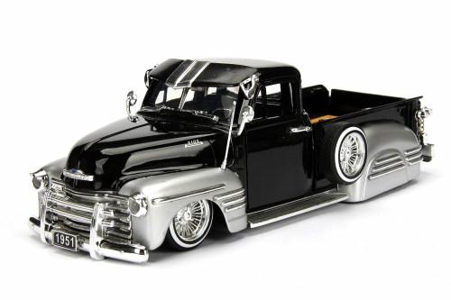 1951 Chevy Pickup, Black - Jada 99035/4 - 1/24 scale Diecast Model Toy Car