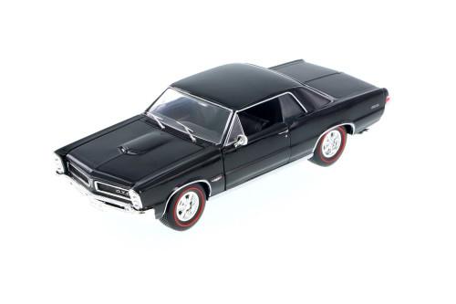 1965 Pontiac GTO, Black - Welly 22092WBK - 1/24 scale Diecast Model Toy Car