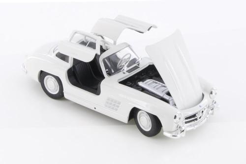Mercedes-Benz 300 SL, White - Welly 24064WWT - 1/24 scale Diecast Model Toy Car