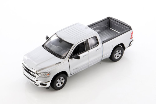 2019 Dodge Ram 1500 Pickup, Silver - Welly 24104WSV - 1/27 scale Diecast Model Toy Car