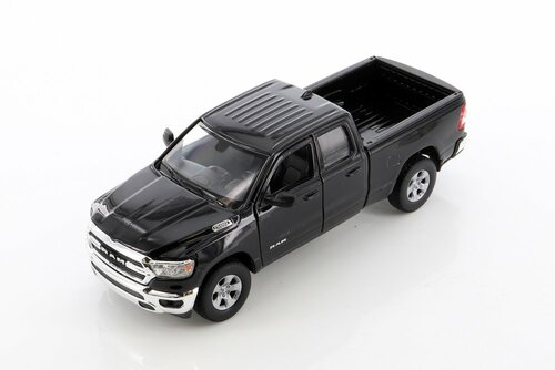 2019 Dodge Ram 1500 Pickup, Black - Welly 24104WBK - 1/27 scale Diecast Model Toy Car