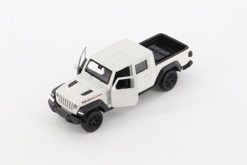 2020 Jeep Gladiator Pickup, White - Welly 43788D - 1/34 scale Diecast Model Toy Car