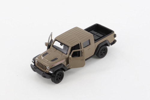 2020 Jeep Gladiator Pickup, Brown - Welly 43788D - 1/34 scale Diecast Model Toy Car
