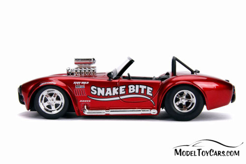 1965 Shelby Cobra 427 S/C Convertible, Candy Red - Jada 30978DP1 - 1/24 scale Diecast Model Toy Car