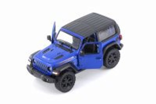 2018 Jeep Wrangler Rubion, Blue - Kinsmart 5412DAB - 1/34 scale Diecast Model Toy Car