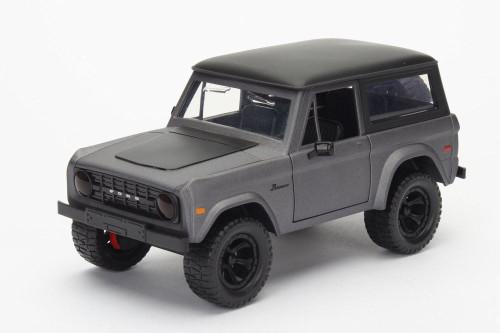 1973 Ford Bronco, Gray - Jada 98279 - 1/24 scale Diecast Model Toy Car