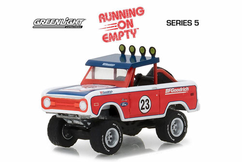 1966 Ford Baja Bronco Off-Road Truck, Red w/blue - Greenlight 41050C/48 - 1/64 Scale Diecast Model Toy Car